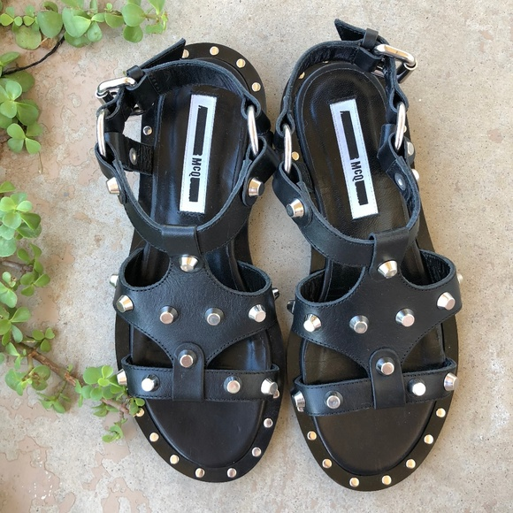 ba6029eae345 Alexander McQueen Shoes - Alexander McQueen MCQ Studded Solenie Sandals
